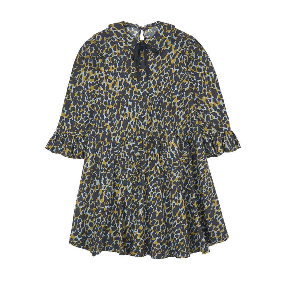 Long Sleeve Toddler Big Girls Loose Floral Dress