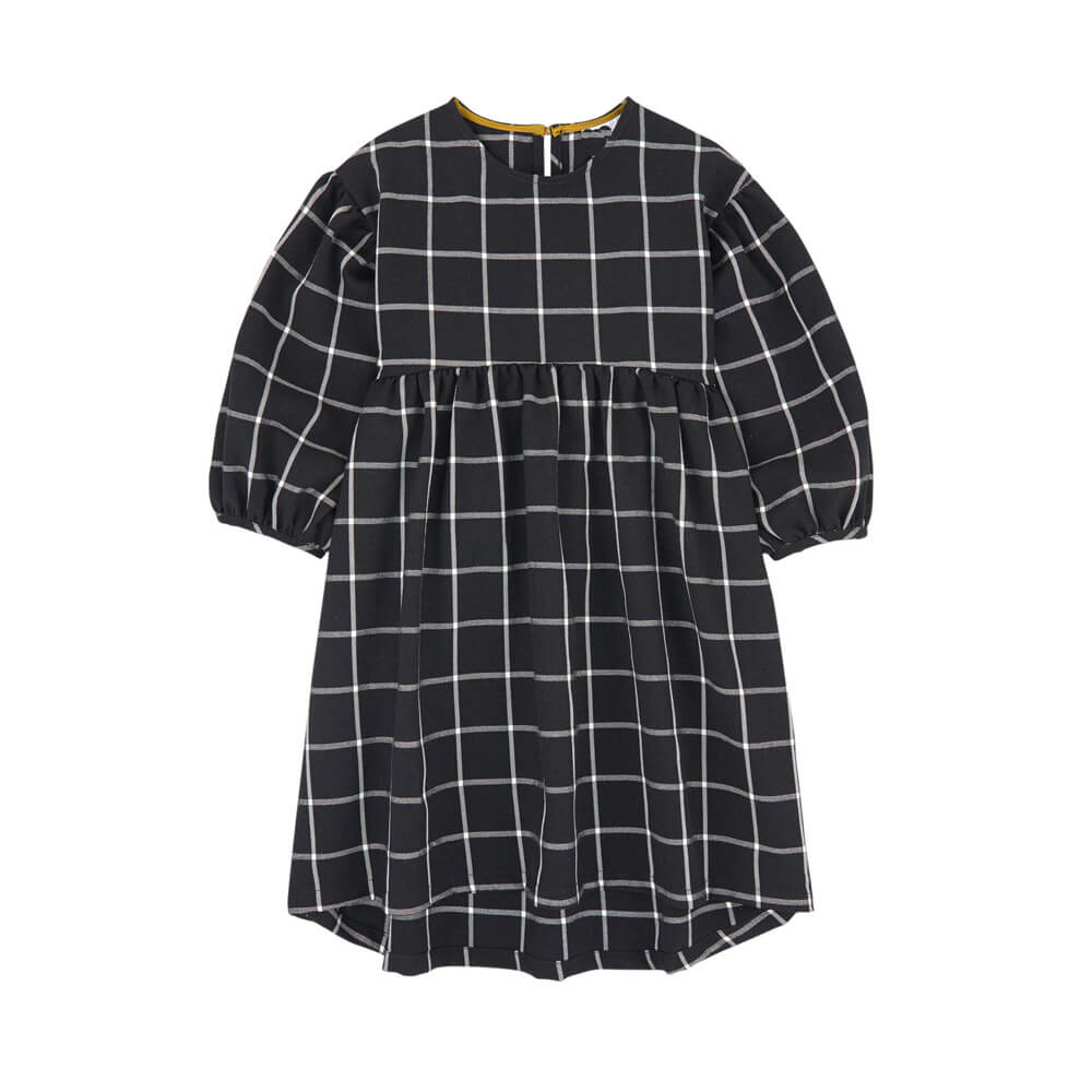 Little Girls Plaid Dress Collarless Wholesale Kids Dresses Supplier